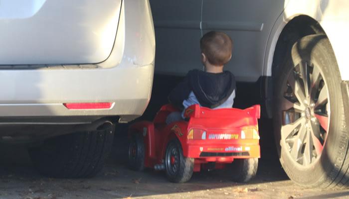 boy parking car
